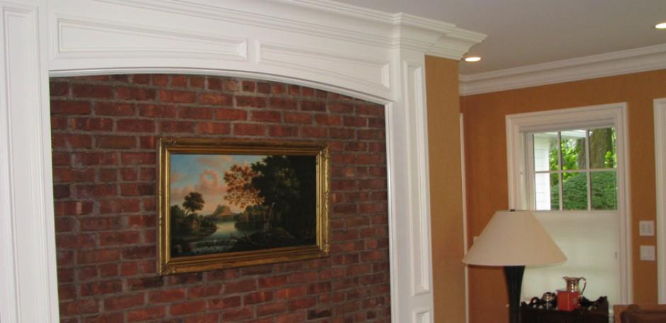 Hallway brick painting